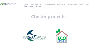 Cluster projects section on the project website