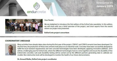 First EnDurCrete newsletter