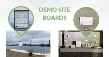 Demo site   Installation of information boards!
